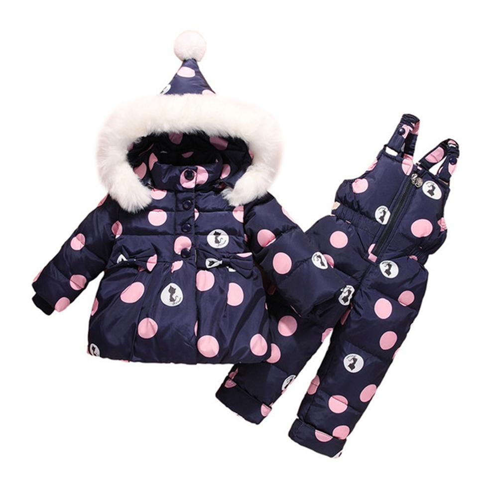 6e7d9b98c Thicken Baby Winter Overalls Coat Snowsuit Duck Down Winter Baby ...
