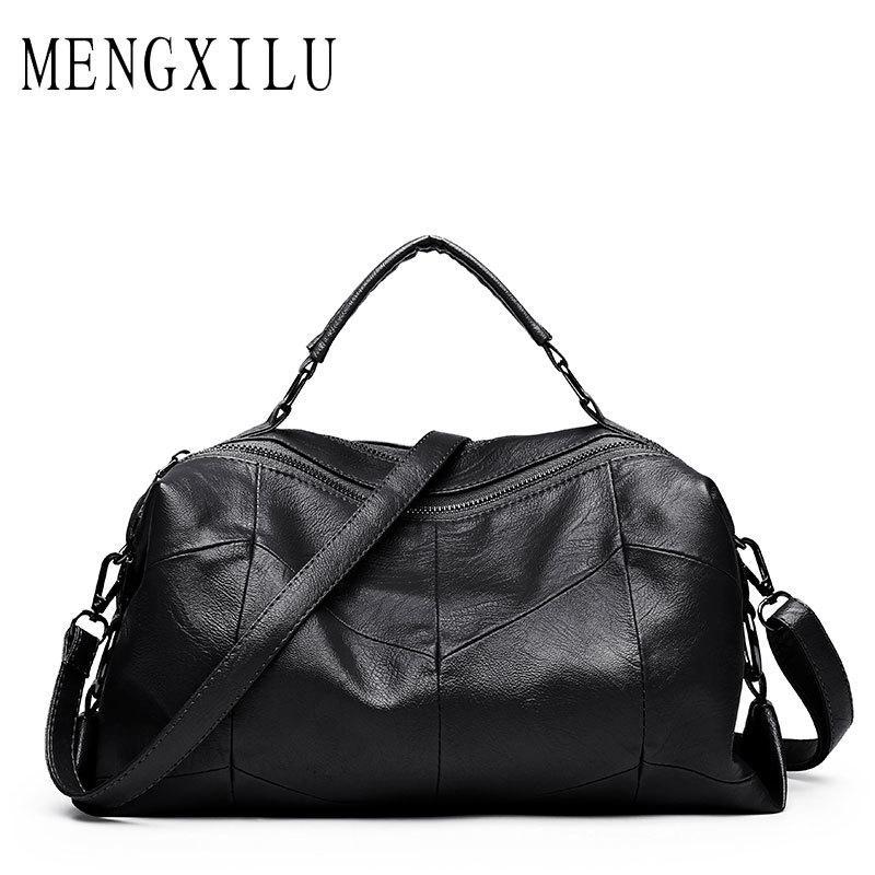 0a1851e2544 Leather Women Bags Designer Luxury Handbags Shoulder Bag Female Big Casual Tote  Spanish Brand Crossbody Bag Ladies Geometric Sac Y1892110 Overnight Bags  For ...
