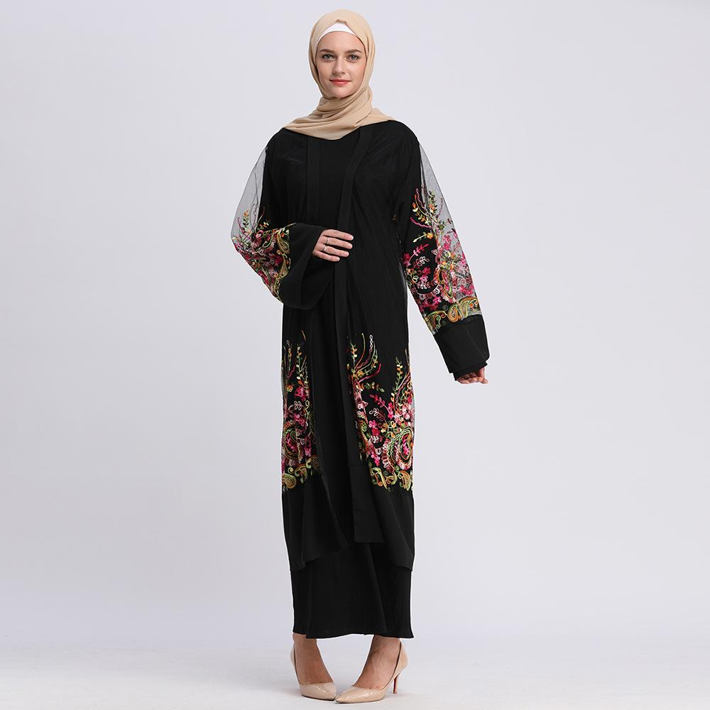 Acquista Donne Abaya Dress Cardigan Long Muslim Dress Ricamo Flower Mesh  Elegante Club Party Islamico Caftano Marocchino A  43.71 Dal Jingju  932f4955c3b