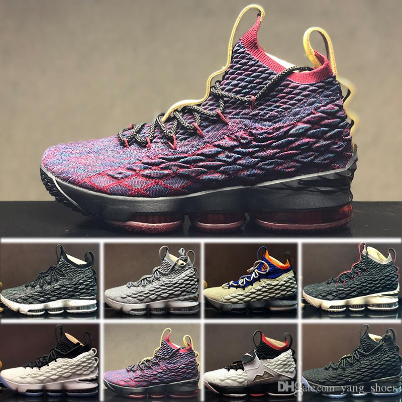 new style 37b80 ed3cb ... denmark großhandel 2018 nike lebron 15 lbj15 sneakers shoes new 15 ep  los angeles home gelb
