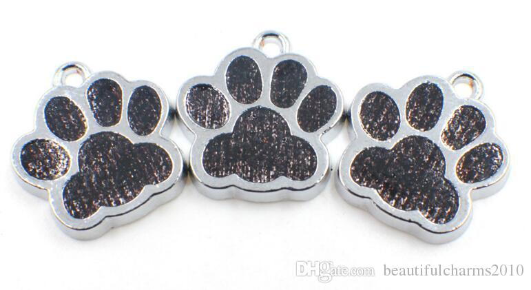 Wholesale Bling dog / bear paw print hang pendant charms fit for diy keychains necklace fashion jewelrys