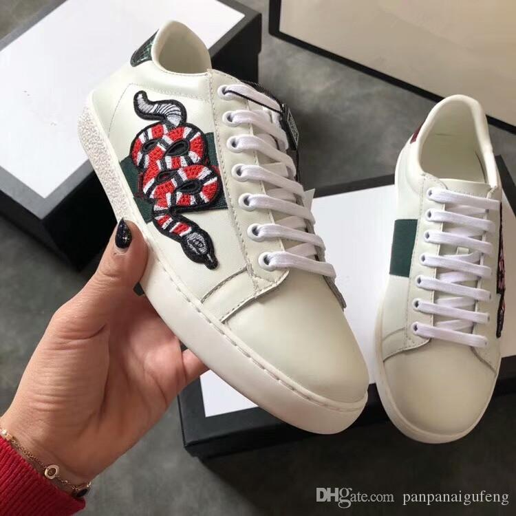 a59861392b24f Luxury Designer Tiger Bee Shoes ACE Luxury Embroidered White Tiger ...