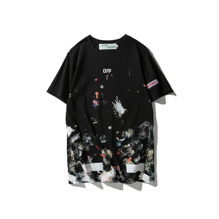 6d3fe355a6a3 2019 Brand Men Women T Shirts OFF Mona Lisa Smiles Printed Hip Hop T Shirts  Skateboard Tshirt Designer Tee Short Sleeve White Casual Tops 35 One Day T  Shirt ...