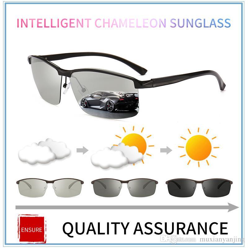 bfc3d6b4524 Aluminium Magnesium Frame Photochromic Sunglasses Chameleon Polarized Sun  Glasses Men All Day Change Color For Snow Light Shades Retro Sunglasses  Baseball ...