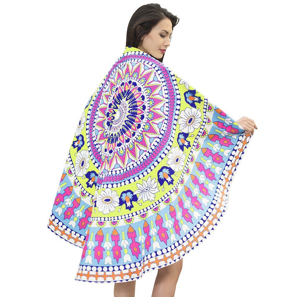 Suministro transfronterizo 2018 nuevo estilo europeo y americano toalla de playa redonda vacaciones mantón abrigo falda estera de yoga falda de baño albornoz