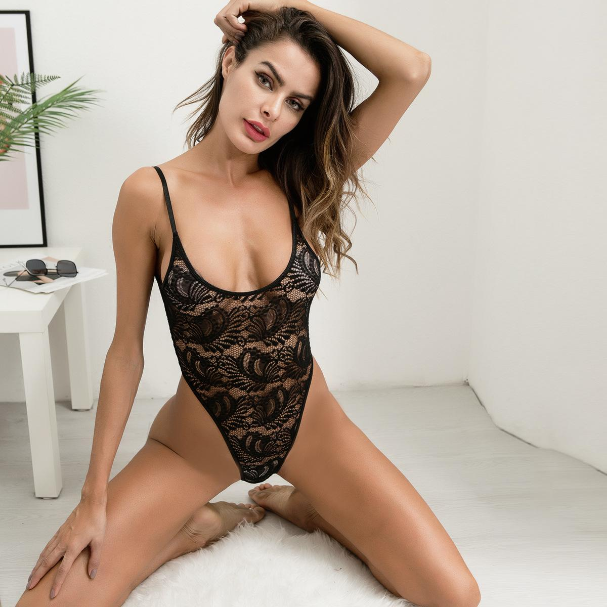 e38aaccf5 Women Sexy Teddies Underwear Spaghetti Strap Black Floral Lace See Through  Lin Tai Sexy Lingerie For Ladies Sexy Sleepwear Lace Lingerie Set Lace  Underwear ...