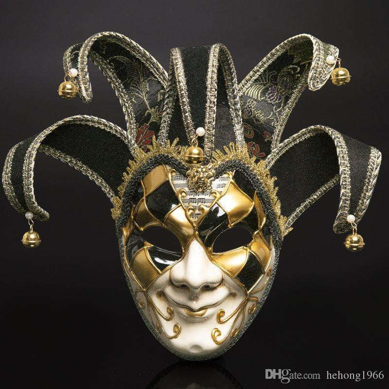 Fashion Venetian Masquerade Masks Plastic Full Head Mask For