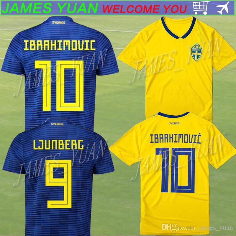 Thailand Quality 2018 World Cup Sweden Home Yellow Soccer Jersey 10 ... 1dfc5eb3d