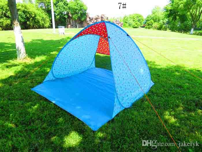 Hot Graduation Travel Tents Outdoors Hiking Camping Shelters for 2-3 People UV Protection Tent for Beach Lawn Party Home Multicolor