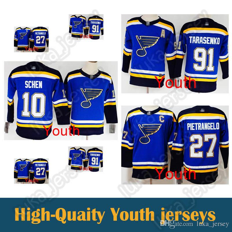 release date: 88399 063cb kid jersey St. Louis Blues 10 Brayden Schenn 27 Alex Pietrangelo 91  Vladimir Tarasenko Hockey Jerseys youth sport jersey