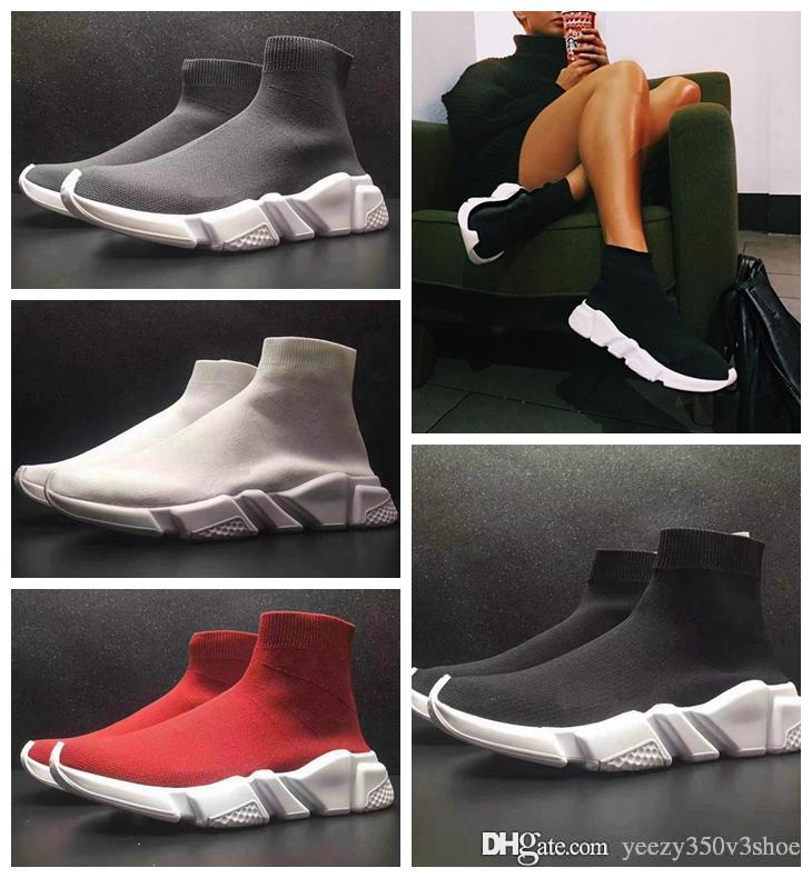 the cheapest cheap online 2018 Paris Triple-S Designer Luxury Shoes Speed Stretch-knit Mid Sneakers for Mens Women Black White Red Casual Casual Trainers Shoes 35-45 exclusive for sale clearance 2014 new discount latest collections release dates online 2kABqCn