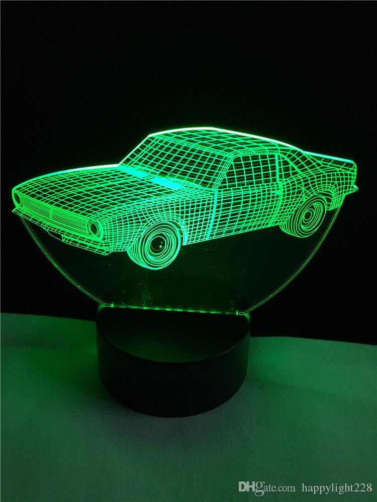 2019 New Cars Model 3d Table Lamps Led Night Light Luminaria Bed