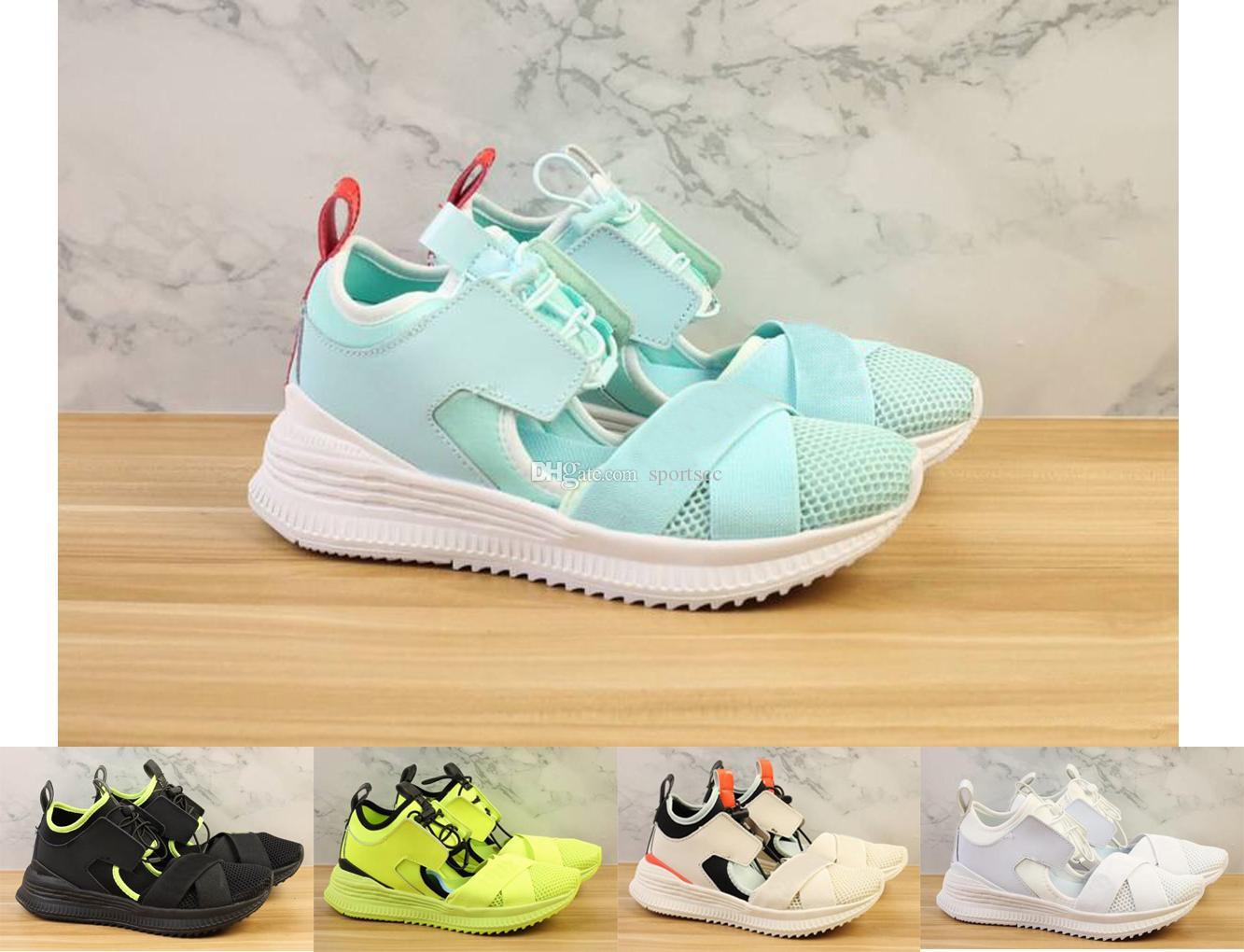 6f0cd095de Women Fenty Rihanna Avid Sandal Green White Beige Black Yellow Trainers  Sandal Online with  98.21 Pair on Sportscc s Store