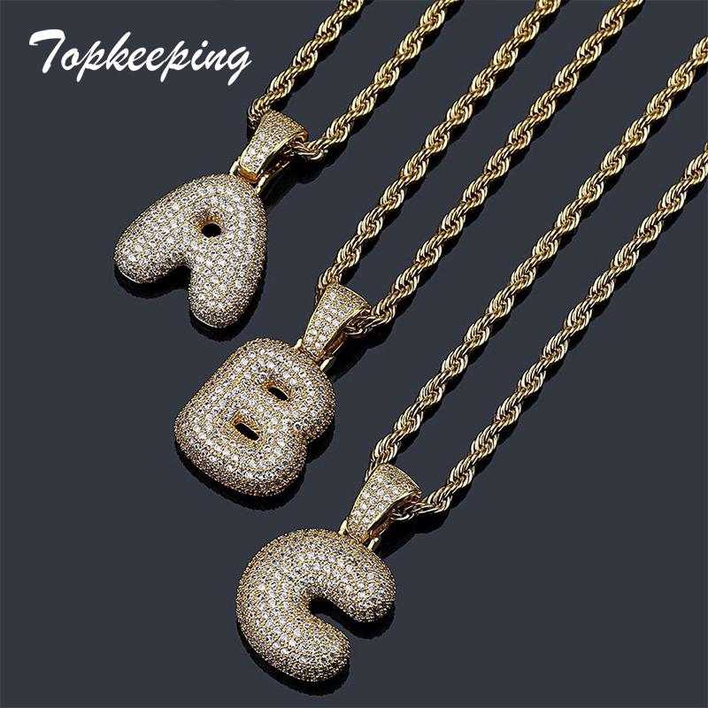 2e7244e36a8 Exclusive Custom Bubble Letter Name Pendant Iced Out Gold Silver RoseGold  Rhinestone Hip Hop Necklace Jewelry Gift Drop Shipping UK 2019 From  Splendone