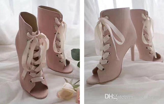 Femal Autumn Knitting Stretch Ankle Boots Open-Toe Hollow Out Women Knight Boots Sexy Pointed Toe Warm Shoes
