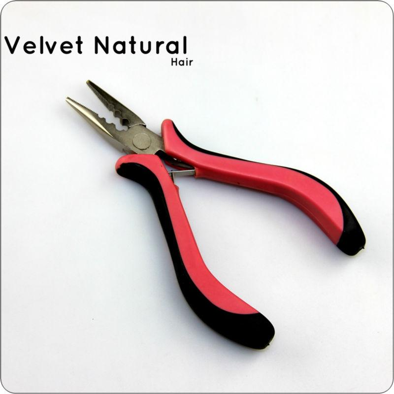 1 pcs Hair Pliers 1000 pcs silicon micro rigns 1pc Hook Needle 1pc Loop  Wood Puller for hair extension kits free shipping