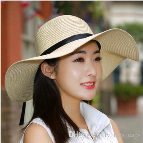 Summer Hats For Women Chapeau Femme Sun Hat Beach Panama Straw Hat ... 3d4792060ded