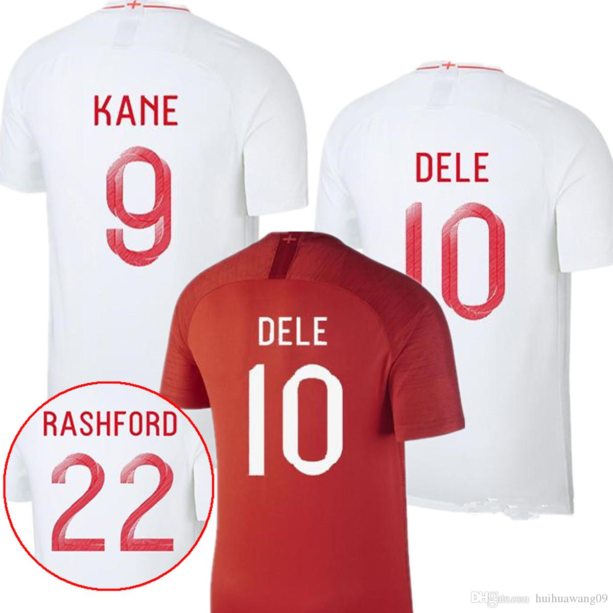 d3abd82c0 2019 2018 World Cup Angland Jersey ROONEY Beckham RASHFORD  9 KANE STERLING  HENDERSON VARDY Dele Alli WC Soccer Jerseys Football Shirts Kit From ...