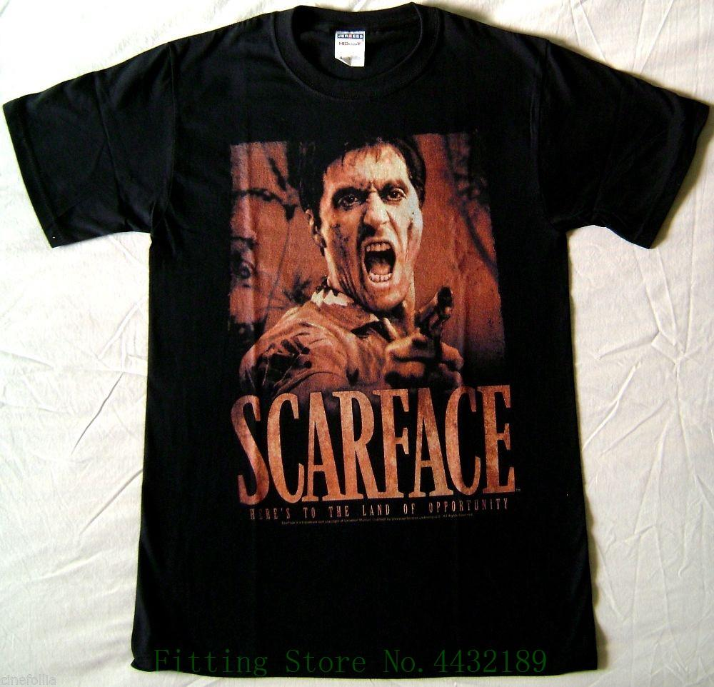 T Shirt Scarface Tony Montana Al Pacino Opportunity Maglia Uomo Ufficiale  New Arrival Men S Short Tee Designs Neck T Shirts From Aaa888tshirts c102117011
