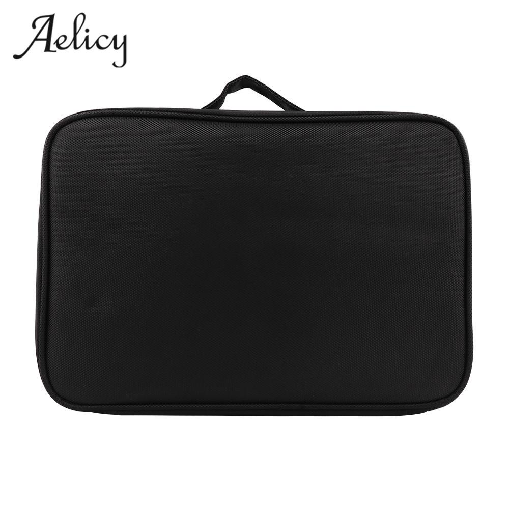 fb2e92bd2edb Aelicy luxury 3 Layers Waterproof Makeup Bag New Women Travel Cosmetic Bag  Organizer Case Large Capacity Solid WashToiletry