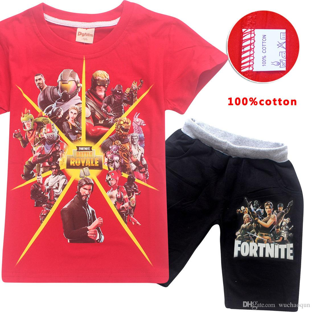 411677240 Boys Girls Fortnite T Shirt Suit 2018 New Kids Game Cartoon Short Sleeve T  Shirt +shorts Sets Clothing 6~14years Fortnite Online with $16.08/Piece on  ...