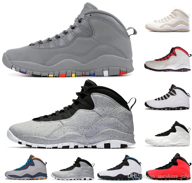 lowest price 7d26d ce3d5 Nuevo Cemento 10 Westbrook 10s Zapatos De Diseño Blanco Negro Fresco Gris  Bobcats Chicago Acero Gris Hombres Zapatos De Baloncesto 10 Zapatillas De  Deporte ...