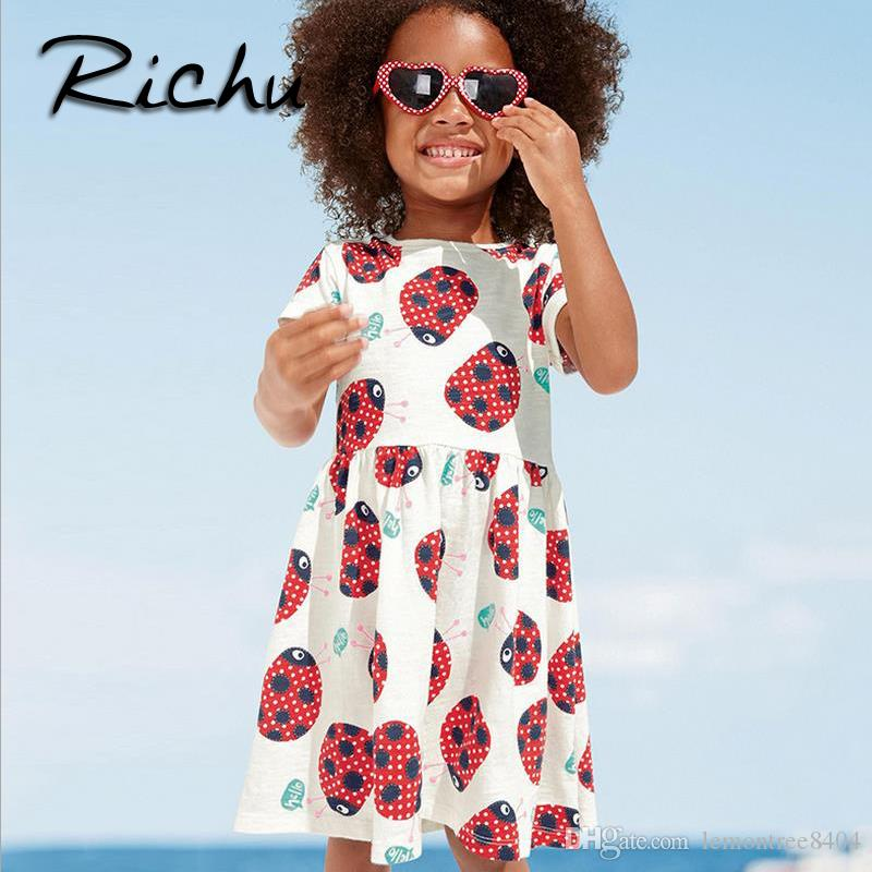 Richu girls clothes summer body suits baby girl infant dress for girls striped High Quality Costume Kid's Dress jumpsuits one piece