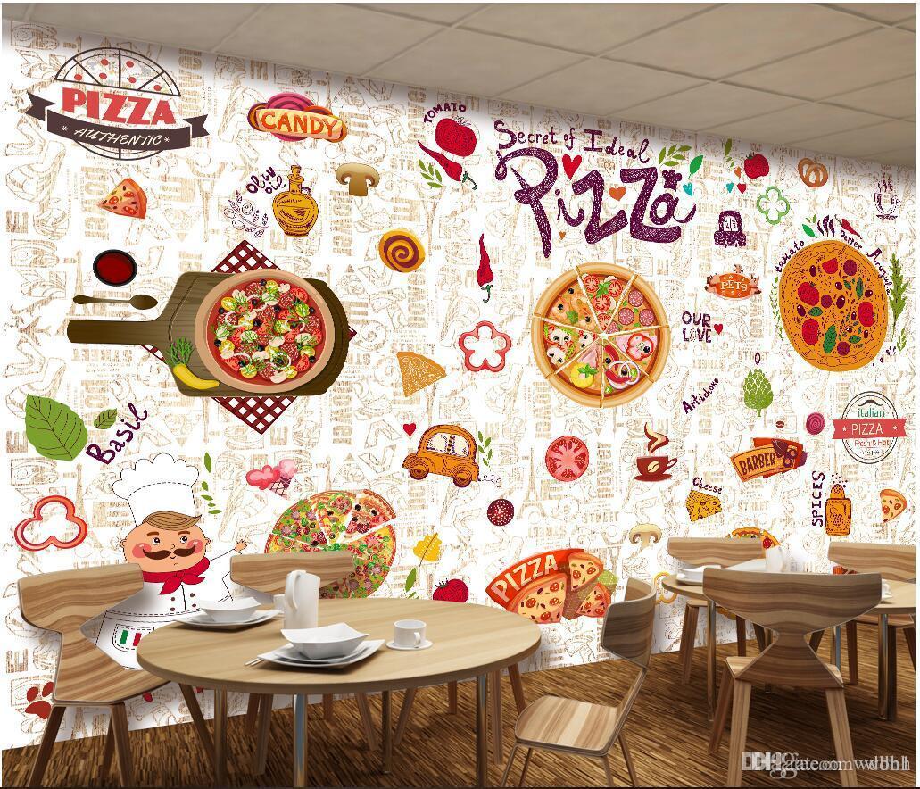 Acheter 3d Papier Peint Personnalise Photo Western Restaurant Pizza