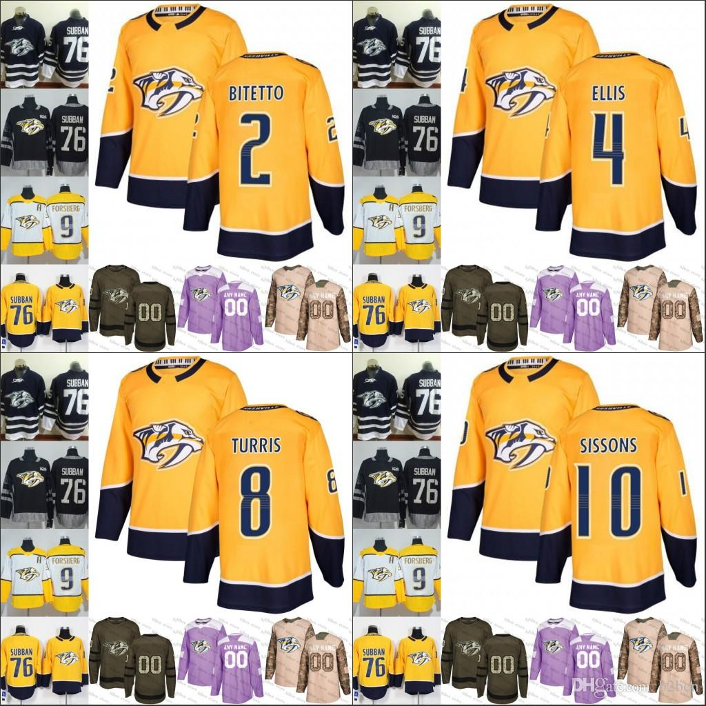 2019 Nashville Predators Mens Womens Youth 2 Anthony Bitetto 4 Ryan ... 09e7226ff