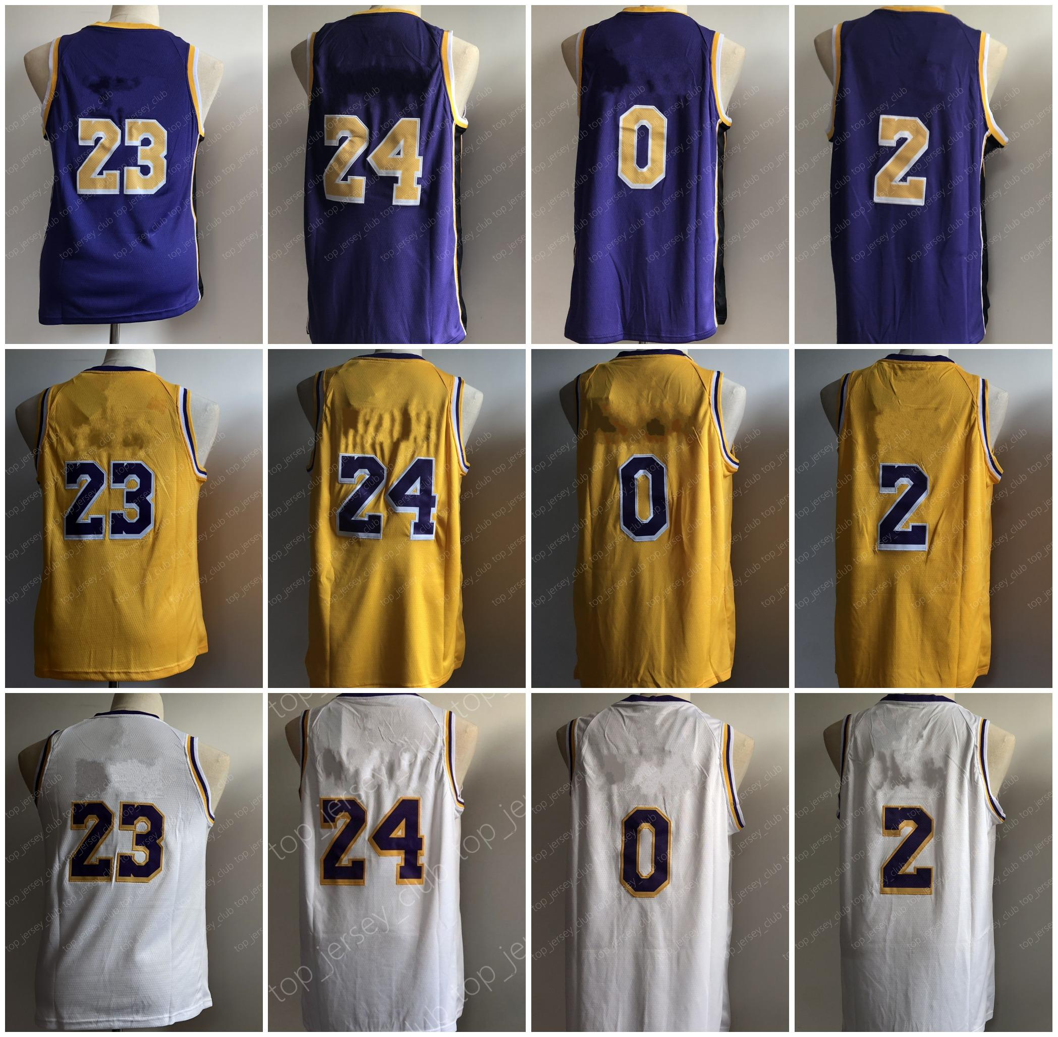 d0de12aecc1 2019 LAL 2019 New Basketball Jersey 23 LBJ 24 KB 0 KK 2 LB Men Women Youth  With Name Number Tag All Stitched From Top jersey club