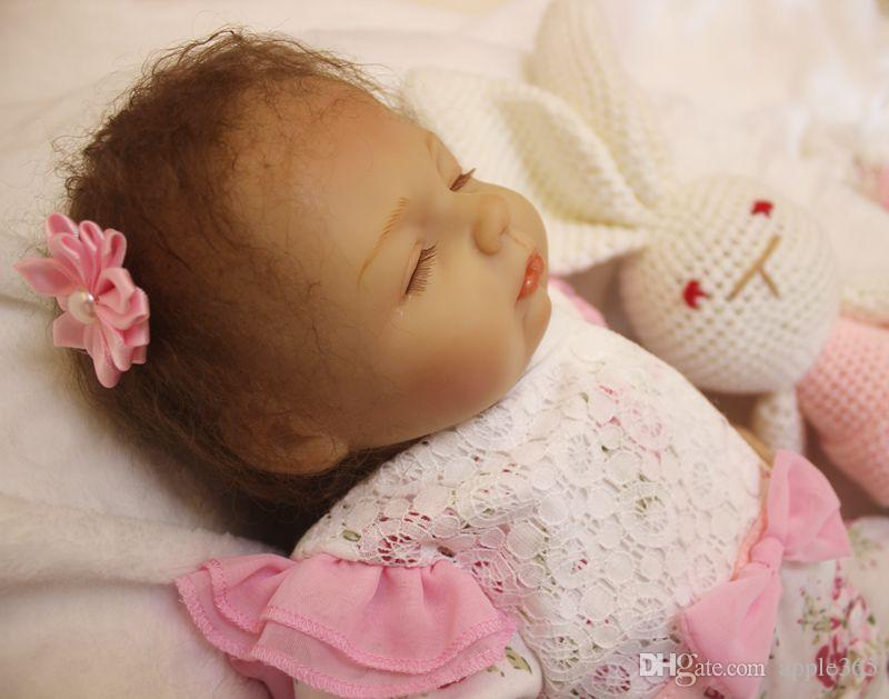 "2018 NEW 18""45cm very lovely REBORN BABY Lifelike handmade silicone vinyl doll/SDK-80R2"