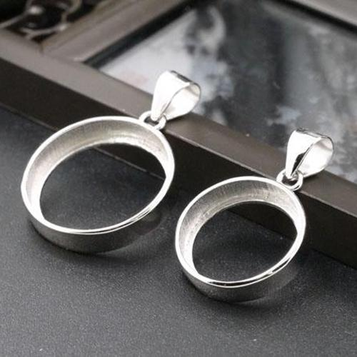 Wholesale 20pcs/lot 100% 925 Sterling Silver Engagement Wedding Pendant for 18x18mm 22x22mm Semi Mount Setting DIY Stone