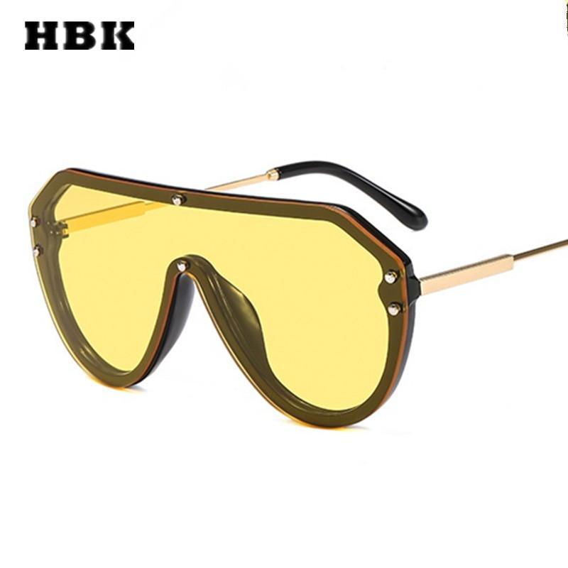 3936eaaee5 Compre HBK Unisex Piloto Gafas De Sol De Gran Tamaño Vintage Oculos De Sol  2019 Lujo Mujer Hombre Diseñador De La Marca Gafas De Sol UV400 Shades A  $37.15 ...