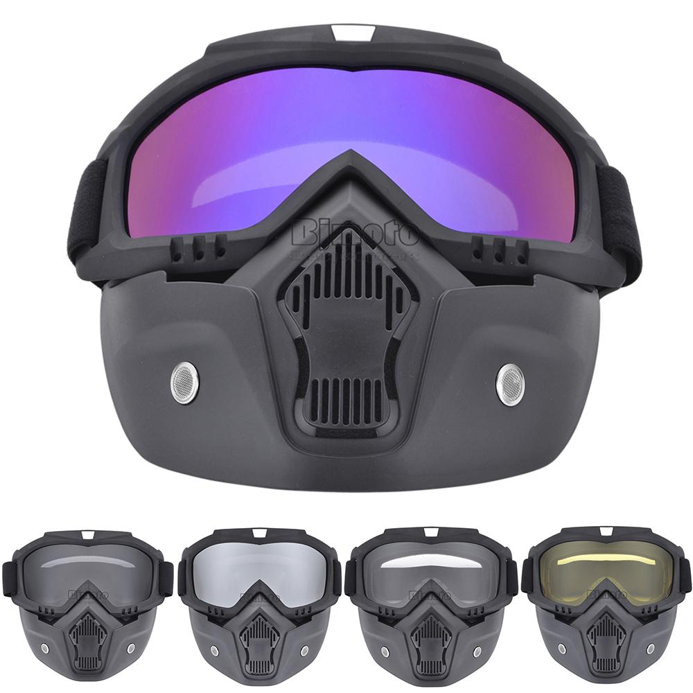 3dfc1e4009 BJGLOBAL Modular Motorcycle Bike Riding Helmet Open Face Mask Shield Goggles  Detachable Eyewear Glasses Cheap Prescription Motorcycle Glasses Classic ...