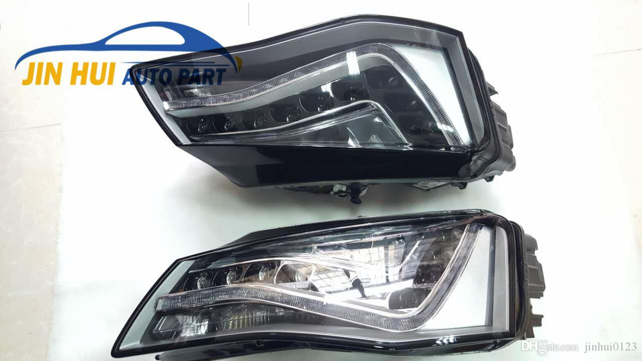 For Audi A8l 2012 2014 Full Led Headlight Assembly Used One Pair 2004 A8 Front Bumper Conversion Price Two Hand Automotive Online Parts Part From Jinhui0123