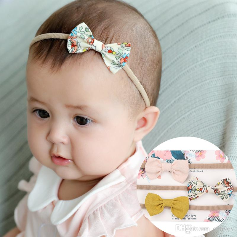 48e56a8d846c2 Newborn Baby Headbands Bow Elastic Headband Children Hair Accessories Kids  Cute Hairbands Nylon Bow Headwear Headdress KHA604 Cute Hair Accessories  Hair ...