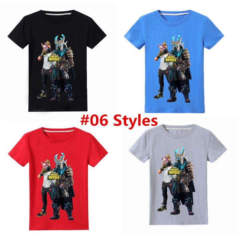 12 Styles Fortnite T Shirt Per Bambini Cool Print Hombre Cotton T Shirt A Maniche Corte Summer Fashion Magliette Camiseta Kids Fortnite Game Tee