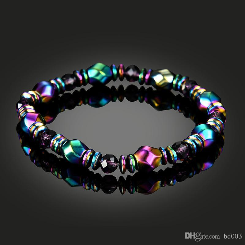 Colour Natural Magnetite Stone Bracelet Manual Weave Hand Chain For Women Health Care Beads Wristband Party Favor 3 27lg ii