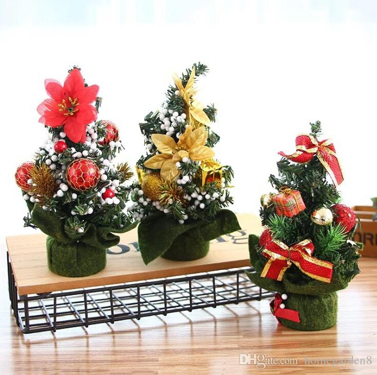 christmas day mall decorations desktop ornaments small tree christmas ornaments tree 20cm mini christmas decoration tree christmas decor shopping christmas