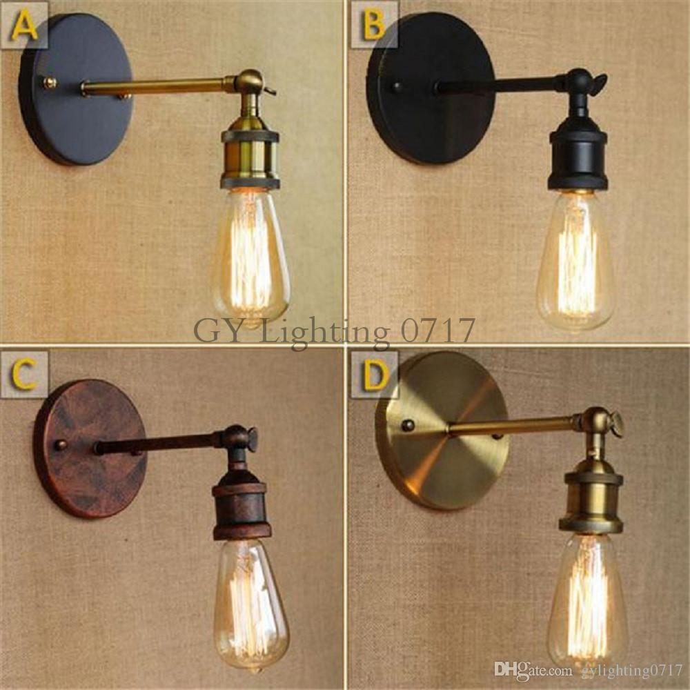 Hierro Plateado Retro E27 Edison De Vintage Louis El Luz Bombilla Hogar Iluminación Poulsen Industrial Loft Para Lámpara Pared Aplique 34LSRjqc5A