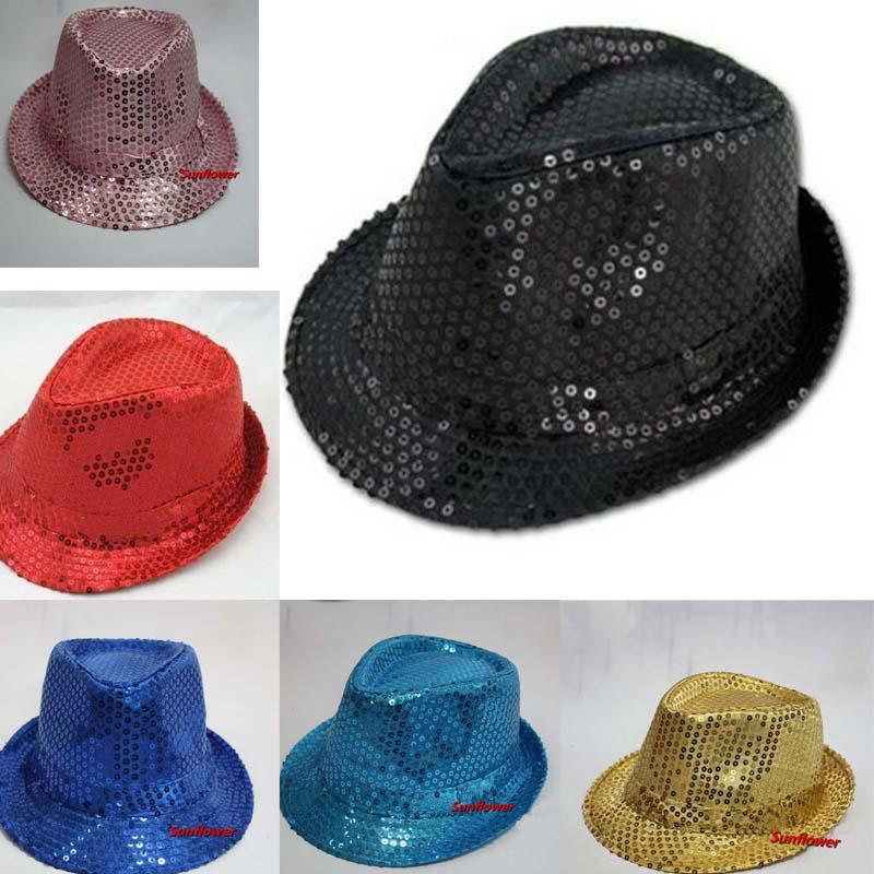 c9559f3312fd2 New Sequin Trilby Fedora Hat Mens Women Ladies Unisex Jazz Hat Cap Fun  Decoration Wedding Hats Party Christmas 1st Birthday Hat For Boys 1st  Birthday Hat ...