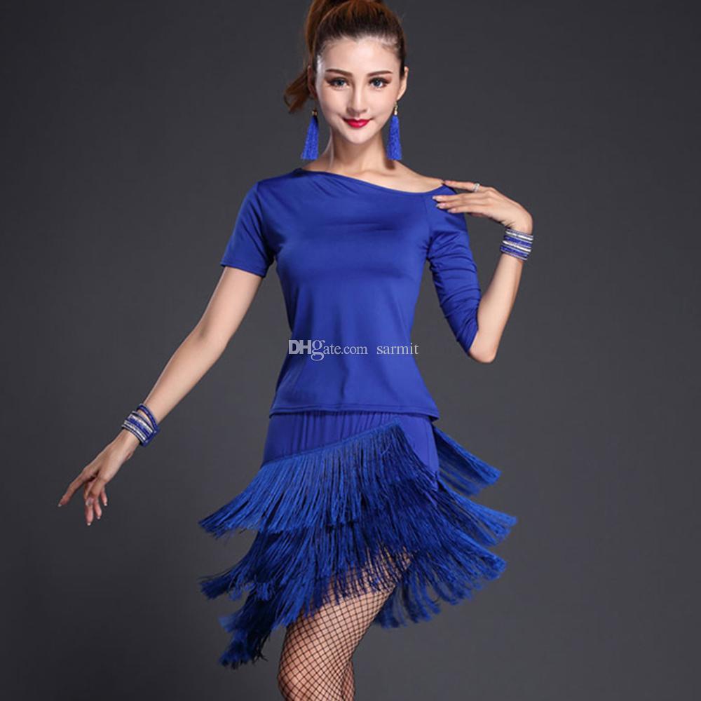 bb443570a4bf Acquista Vestito Da Ballo Latino Costumi Da Donna Gonna Top CHEAPEST .