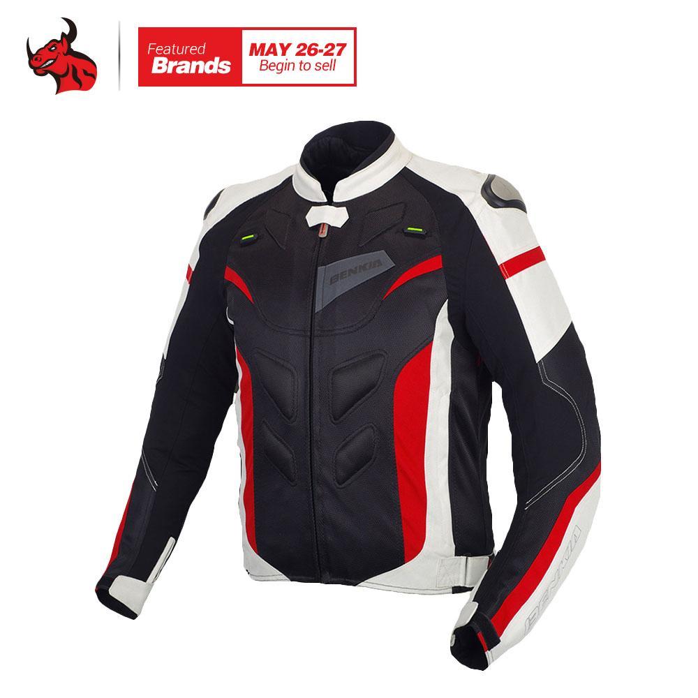 buy online f6998 4ee8c BENKIA Männer Motorradjacke Racing Jacke Frühling Sommer Herbst Abnehmbare  Liner Veste Mantel Reflektierende Racing Reiten Moto