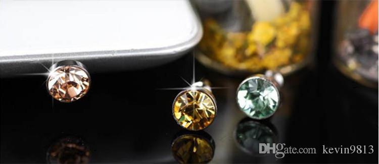 2018 Hottest Anti Dust Plug Headphone Plugs Stopper Cap Gadgets Mobile Phone Rhinestone 3.5mm Earphone Jack plugs DHL Free