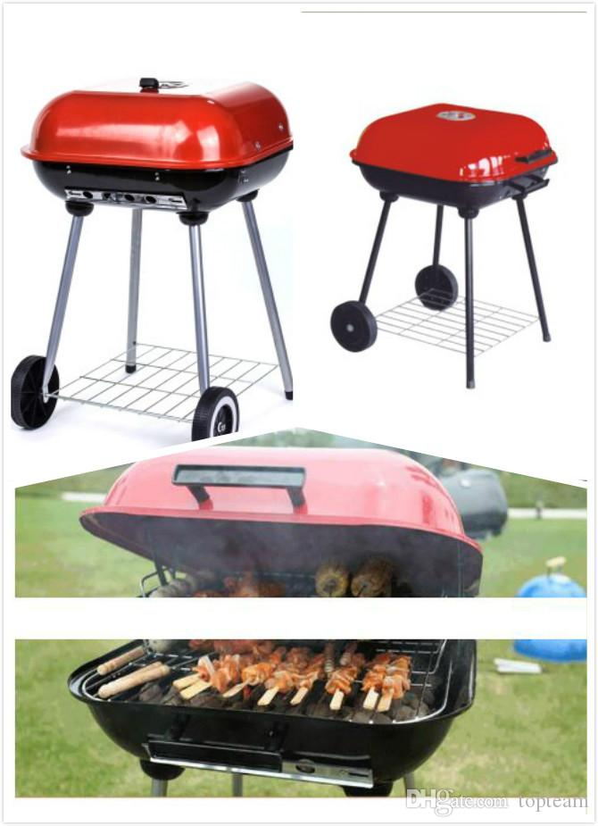 Iron Outdoor BBQ Charcoal Grill Set Folding Portable BBQ Oven Home-use Lovers Camping Cookware Burner Oven Picnic Stoves