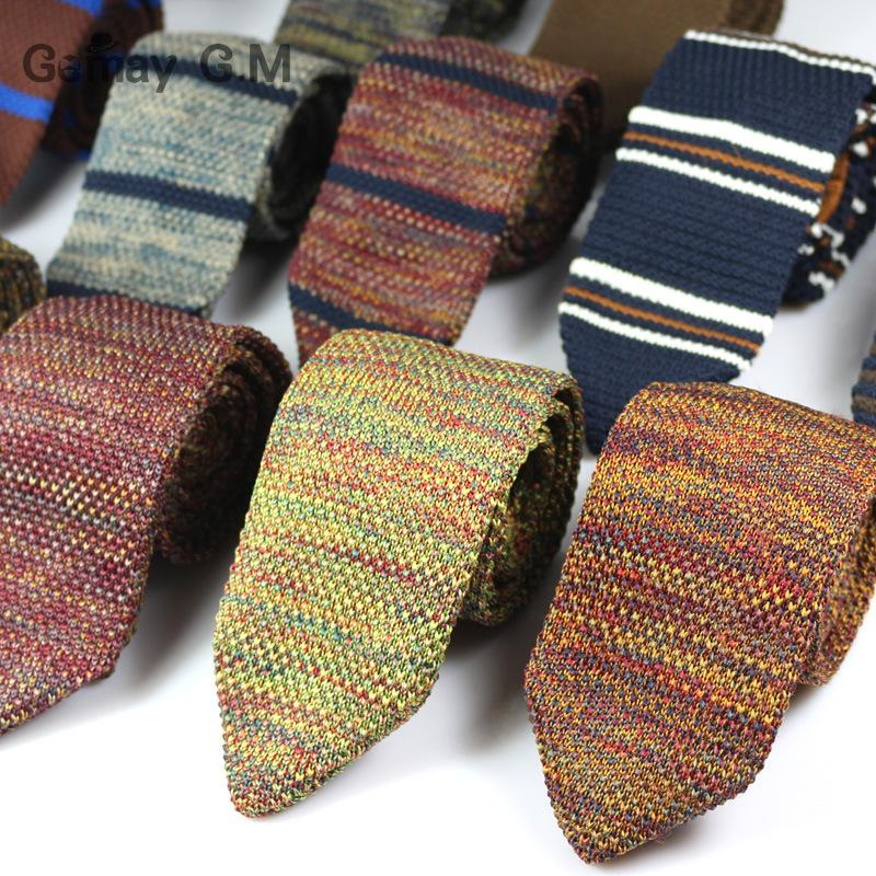 Discount New Fashion Sharp Mens Tie Knitted Ties Mens Casual