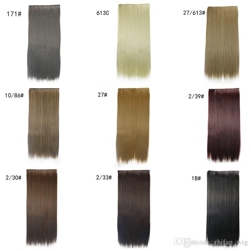 ZhiFan hair extensions uk straight 24inch hair extension colorful human for black women extensions usa clips in
