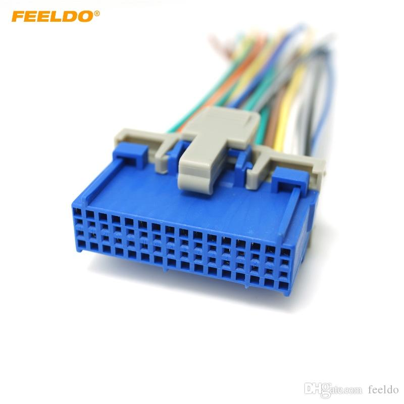 2019 FEELDO Car Audio Stereo Wiring Harness For Buick/Cadillac ... on stereo cable, stereo wiring adapter, auto stereo harness, seat belt harness, stereo wiring kit,