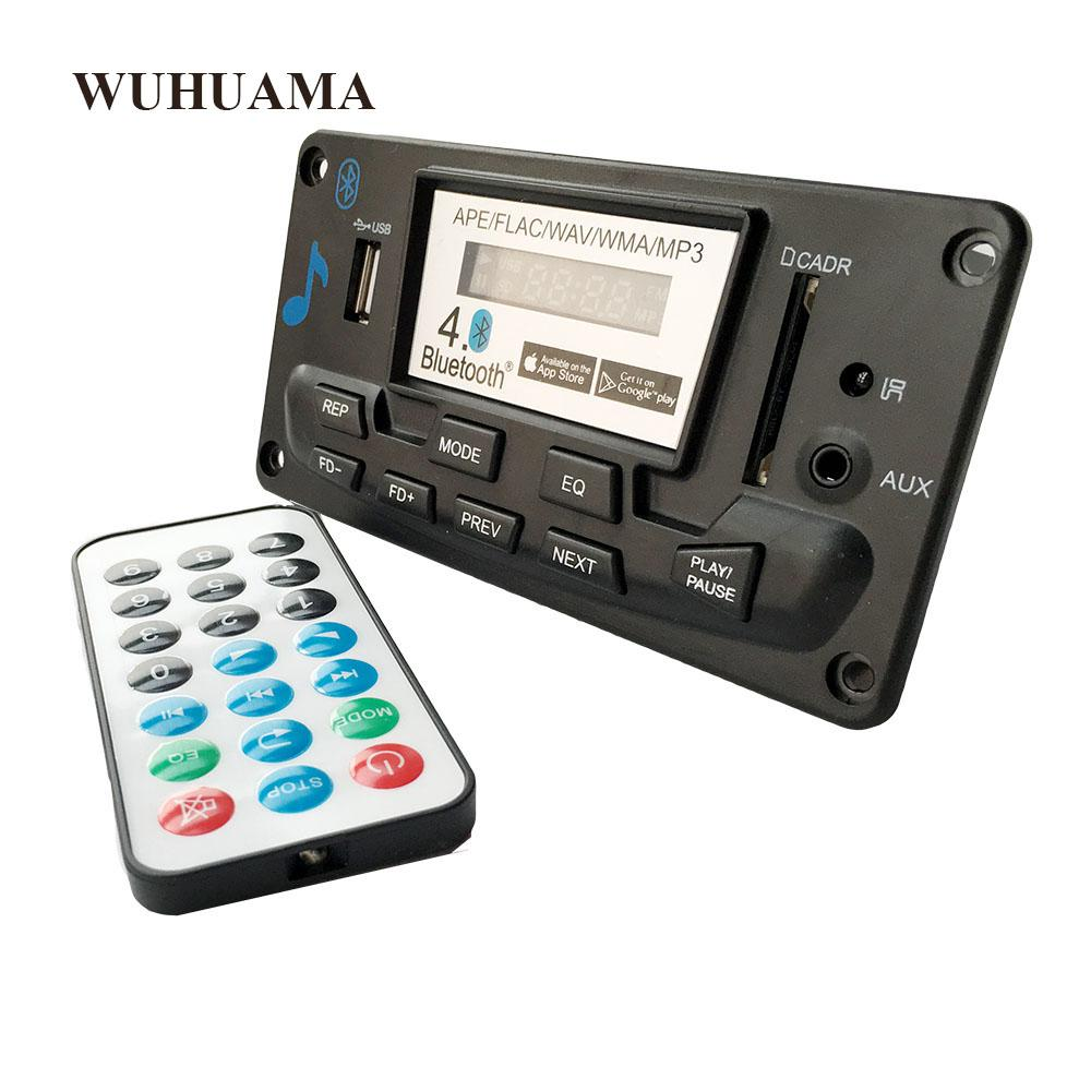 Bluetooth 4 0 Audio MP3 Player Decoder Board Lossless Music Recorder APE  FLAC FM SD/MMC Radio Module Kit 12V AUX Digital