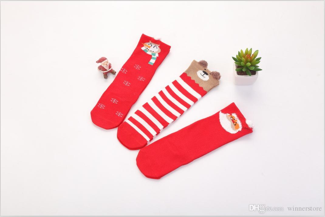baby christmas stockings long warm red cute funny socks christmas elements jacquared comfortable breathable soft baby knee socks coolest socks in the world